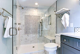 bathroom with beautiful finishes