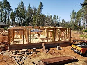 new construction home being built in Paradise, Ca.