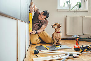 man doing remodeling