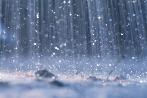 raining outdoors