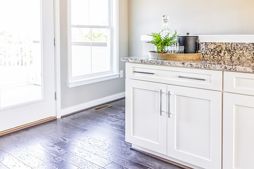 beautiful kitchen with new floors