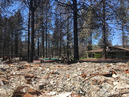 Villa Monterey camp fire 1