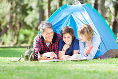 camping in back yard