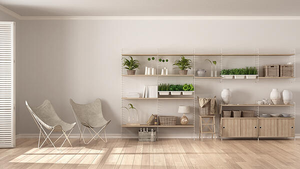 clutter-free home shutterstock_620319848