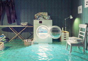 flooded laundry room