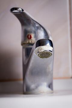 hard water stains on faucet