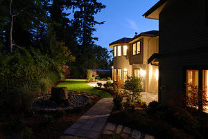 house with security lighting