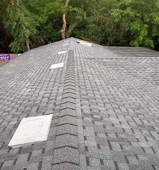 finished roof of new home