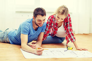 couple planning home remodel