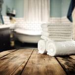 spa bathroom towels